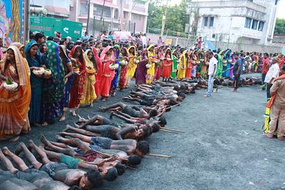 Scene from Manda puja