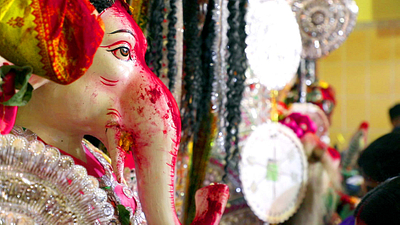 Closeup of Ganesha