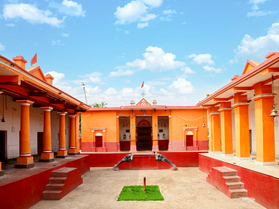 beautiful view of Kali Mandir in Pakur