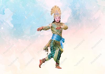 Chhau dance artist performing seraikela chhau dance