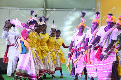 tribal dance during khadi mela in ranchi, jharkhand