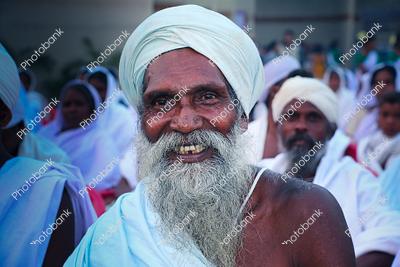 Portrait of old man smiling