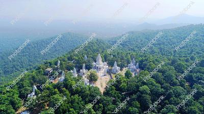 Wide landscape view of Temple