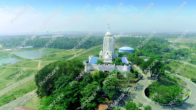 Temple aerial view