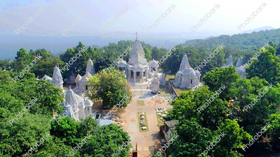 Aerial shot of Parasnath Temple, Jharkhand