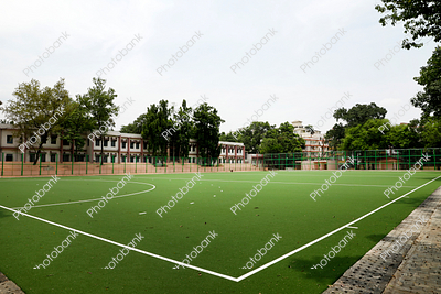 Green football stadium