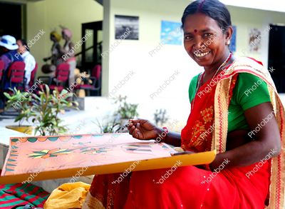 Indian Women making Craft