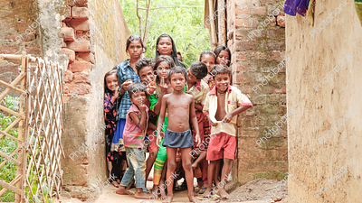 Village Children posing for the click