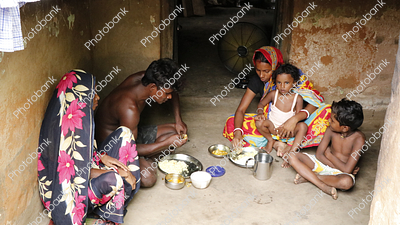 Village Family Eating