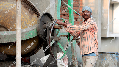 Man working at site