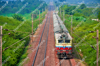 Aerial view of train