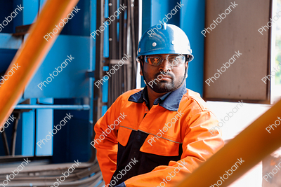 Worker Standing in Working Site