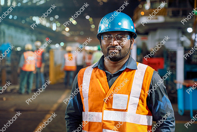 Man Standing in Working Site