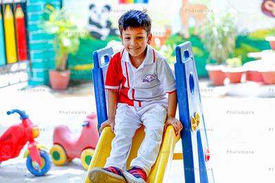 small kid playing