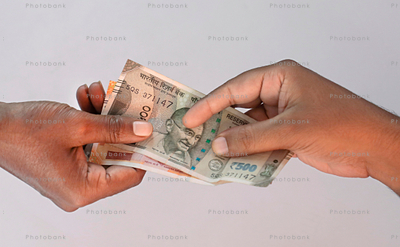 Paying Indian rupee