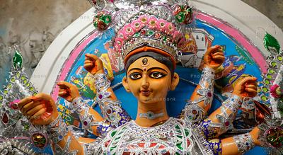 Closeup of goddess durga