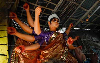 Durga idol in kumartuli