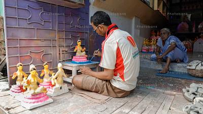 Making of goddess durga