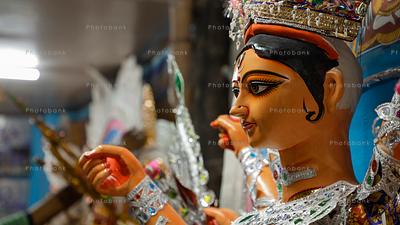 Closeup of godddess durga