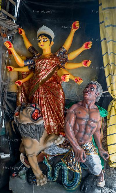 Portrait view of Goddess Durga