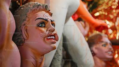Closeup of  mahisasur evil