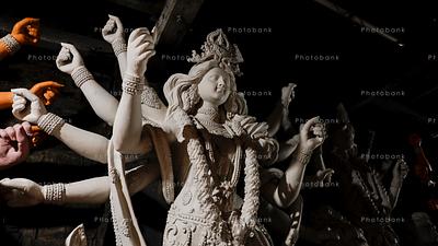 White color statue of maa Durga