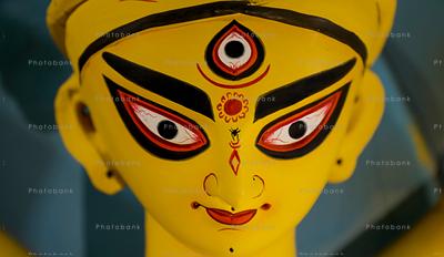 Closeup of maa Durga