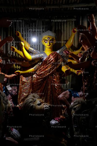 Portrait view of maa Durga