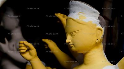Statue of maa durga before durga puja