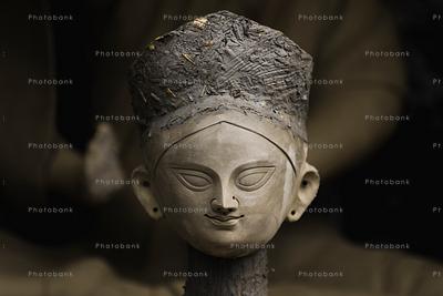 Closeup of Durga idols
