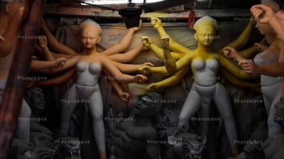 Two big Durga idol