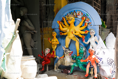Preparations of Durga idols making is in full phase