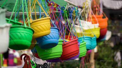 Different coloured flower pots for sale