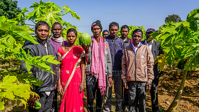 Group of farmers
