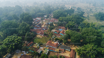 beautiful view of indian village
