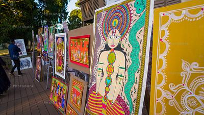 Showcase of madhubani painting and painting around different state of India