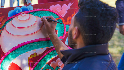Artist from North India painting