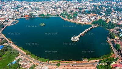Ranchi lake aerial view