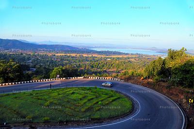 Beautiful road of Patratu Valley