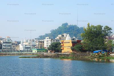 View of Pahari Mandir from Ranchi Lake
