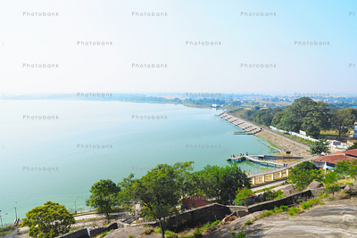 View of Kanke Dam from Rock Garden