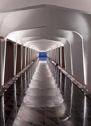 Architectural & hotel photography of corridor at Lebua Resort, Jaipur, India