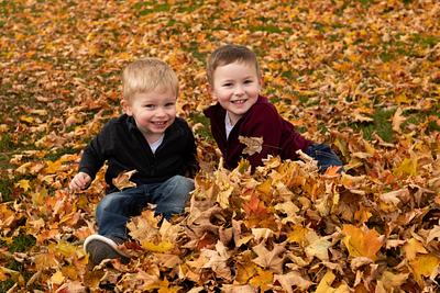 Jenson and CJ's Fall fun