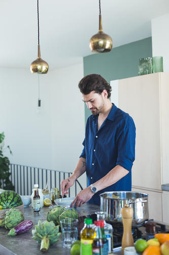 Kochen ist easy mit Jimi Blue Ochsenknecht, photo: JUNI Fotografen