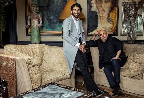 Designer Tarun Tahiliani & Jahan Tahilani, Elle