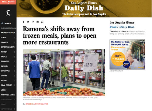 Ramona shifts from frozen meals