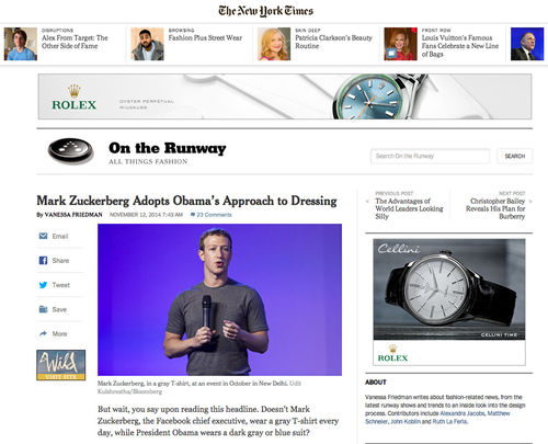 New York Times, Mark Zuckerberg