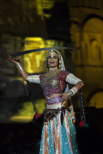 Queeny Harish, Rajasthan folk Bahrupia dancer