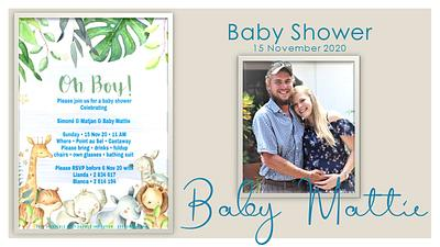 Baby Mattie Baby Shower