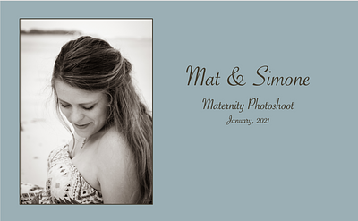 Mat & Simone Maternity Photo Shoot